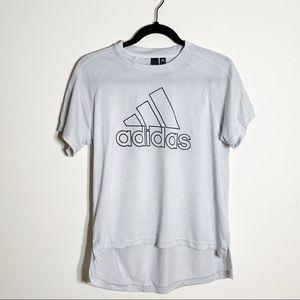 Adidas Gray Short Sleeve Logo T-Shirt Crew Neck